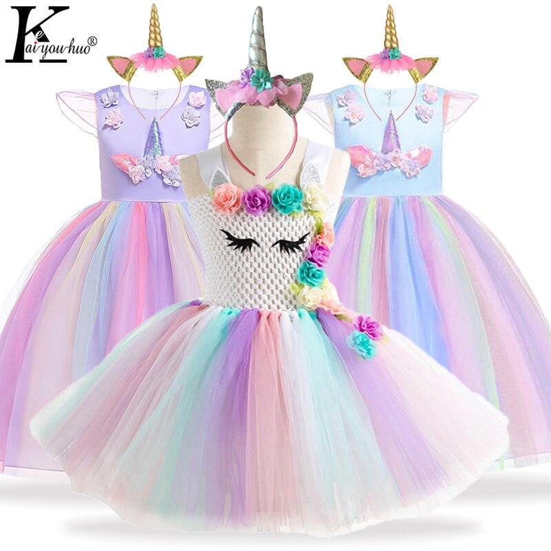 Unicorn Del Partito Dei Bambini del Vestito Costume di Carnevale Per Bambini  Abiti Per Le Ragazze Della Principessa del Vestito Delle Ragazze del  Vestito Da ... 990f17bd308