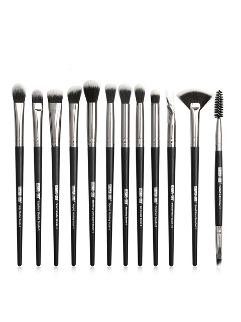 MAANGE new makeup brush 12 PCS professional mixed eye shadow eyebrow brush makeup beauty set 4