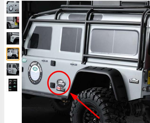 Jeep Customer Service >> BODY LAND ROVER LOGOS DECALS LOGOS RC CAR WRANGLER JEEP JK AXIAL SCX10 RC4WD D90 DEFENDER D110 ...