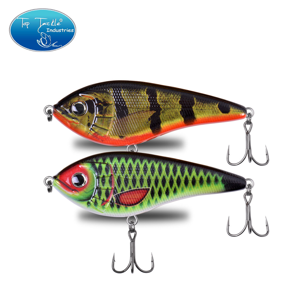 120mm 62g Colors 025-032  Slow Sinking Jerkbait Fishing Lure Tinned Strenthen Hooks For Big Bass Musky Pike