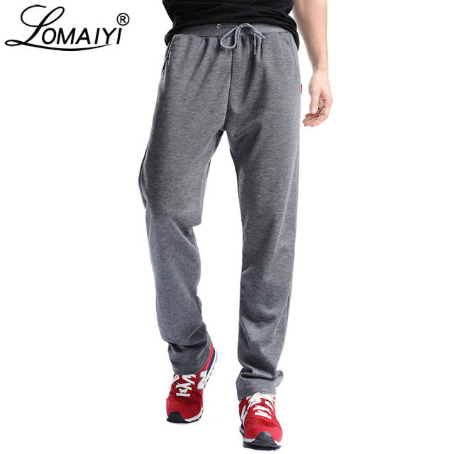 durable modeling beautiful style top quality LOMAIYI Men's Loose Thin Sweatpants Men Spring Summer Joggers Track Pants  Male 4XL Bodybuilding Fitness Casual Trousers BM144