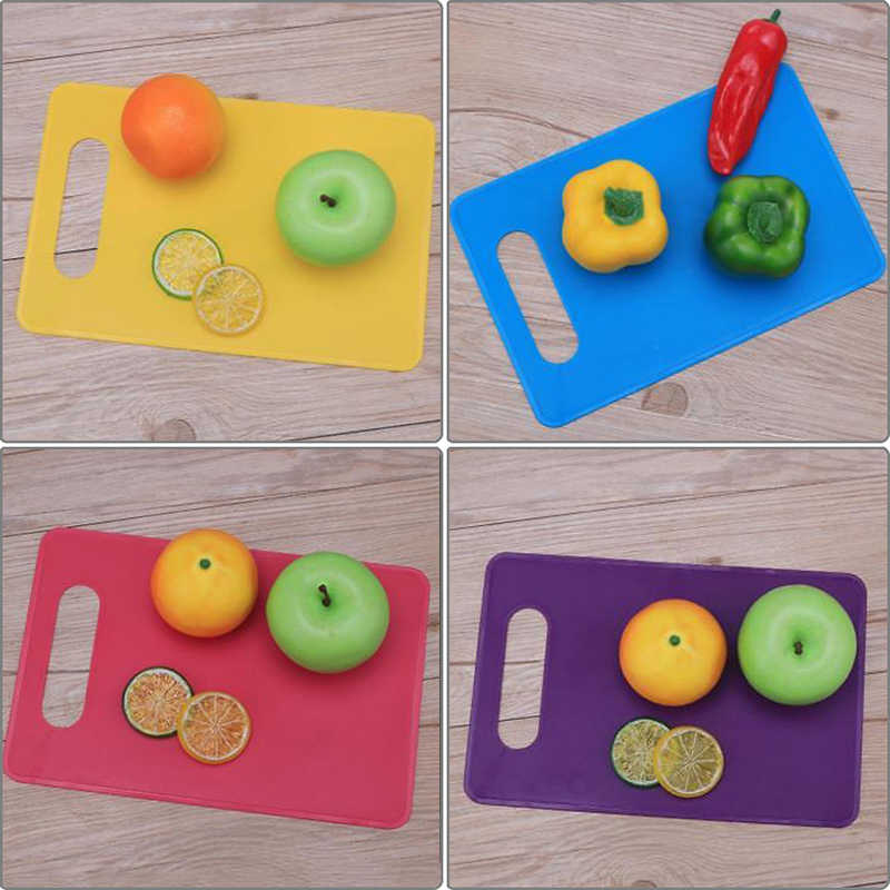 Utensilios de cocina fáciles de llevar, de plástico PP, antideslizante, tabla de cortar, tabla de cortar, cortar