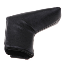 Golf Blade Putter Cover Headcover Mid Mallet Protector with Magnetic Closure Think Fleece Lining Black