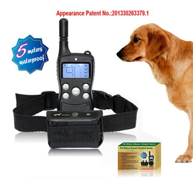 LCD Display 300M Remote Control Pet Dog Training Collar Rechargeable Waterproof Electric Shock Shocking Vibrate Collar For Dogs