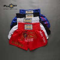 Short de boxe muay muay motif lion brodé de différentes couleurs