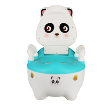 Baby Potty Plastic Portable Baby Toilet Seat Cute Raccoon Cartoon Kids Potty Chair Cars Child Toilet Seat Trainer Children's Pot(China)