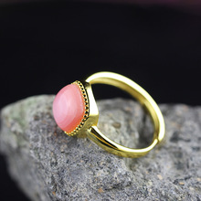 L&P Fashion Queen Shells Gold Color 925 Sterling Silver Ring for Women Jewelry Adjustable Ring Wholesale Gift Hot Sale