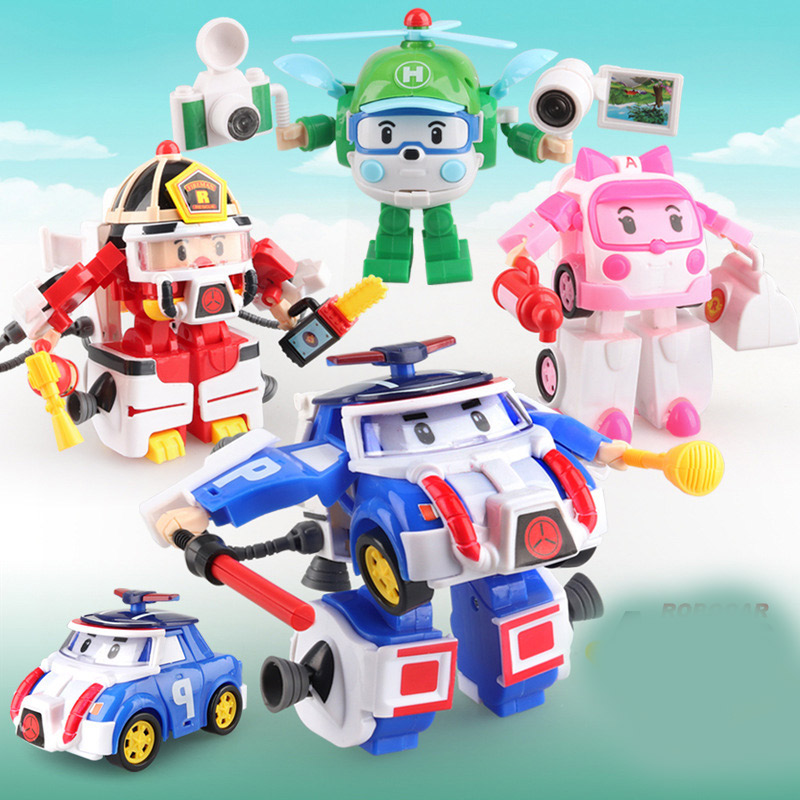 4pcs/set Robocar Korea Robot Kids Toys Anime Action Figure Super Wings Poli Toys For Children Playmobil Juguetes4pcs/set Robocar Korea Robot Kids Toys Anime Action Figure Super Wings Poli Toys For Children Playmobil Juguetes