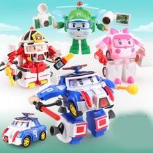 4pcs/set Robocar Korea Robot Kids Toys Anime Action Figure Super Wings Poli Toys For Children Playmobil Juguetes