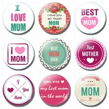 I Love Mom 30 MM Fridge Magnet Best Ever Happy Mothers Day Glass Dome Magnetic Refrigerator Stickers Note Holder Home Decor