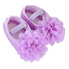 #5001 Toddler Kid Baby Girl Chiffon Flower Elastic Band Newborn Walking Shoes DROPSHIPPING New Arrival Freeshipping Hot Sales(China)