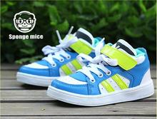 2017 Sponge mice  spring and autumn new children's shoes Korean outdoor stripes before the children with casual shoes