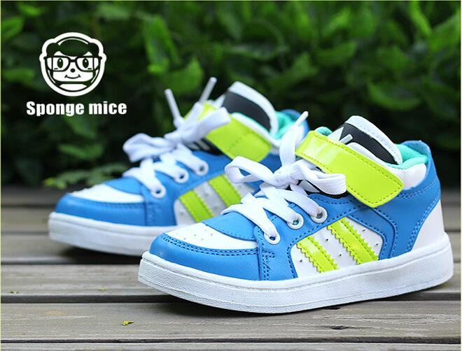 2017 Sponge mice spring and autumn new children s shoes Korean outdoor stripes before the children