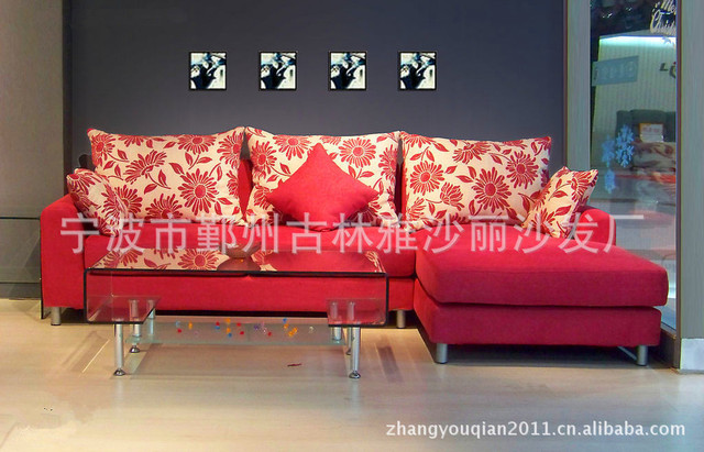 Modern Furniture Designer Red Sofa Can Be Customized Color Combination Of High Elasticity Comfortable Ikea