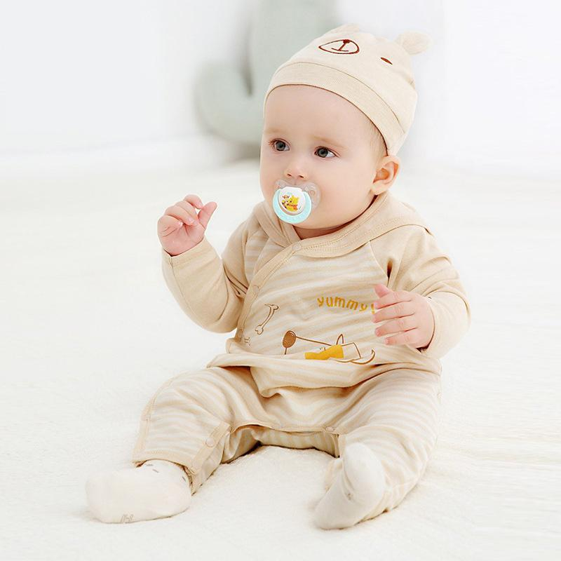 Newborn Baby Clothes Boys Girls Costume Beige Long Sleeve Cute Rompers Cotton Casual Sweet Infant Boy Girl Cloth Romper 4rr201 baby boy clothes kids bodysuit infant coverall newborn romper short sleeve polo shirt cotton children costume outfit suit