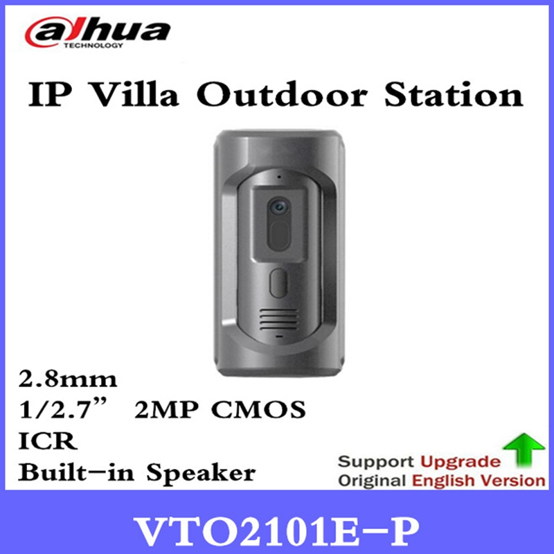 DH VTO2101E-P IP Villa Outdoor Station HD CMOS camera Zinc alloy panel IP65 IK10 1/2.7 2MP CMOS Image Sensor intercom system wholesale 5pcs lot free shipping via dhl for ipad mini 1 lcd display original quality replacement new screen