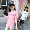 2017 Spring Summer Long Sleeve T-Shirt For Girls Letter Girls Shirts Children Tops Children's Sweatshirts Baby Clothing 2-14y
