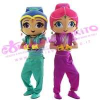 ohlees girls cartoon Mascot Costumes Fancy Dress Halloween Adult Size custom made