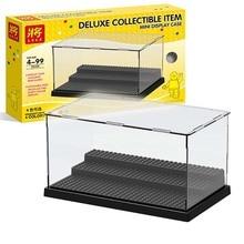 цена на 2019 Compatible Acrylic Plastic figures Display legoinglys Case Box Dustproof display box loz Building Blocks bricks Toys