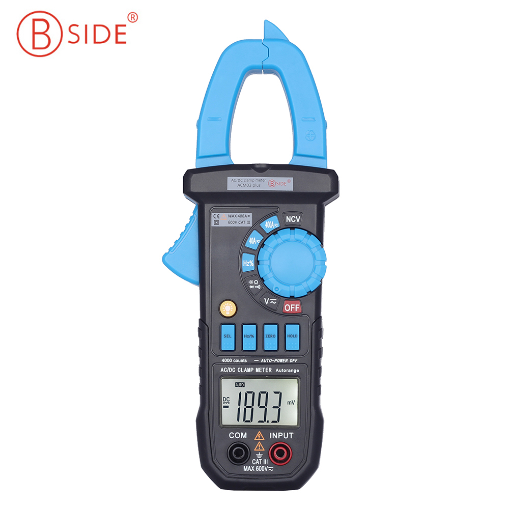 Bside ACM03 Plus Auto Range Digital Clamp Multimeter AC DC Current Voltage Hz Frequency Capacitance Tester bside adm02 digital multimeter handheld auto range multifunction dmm dc ac voltage current temperature meters multitester
