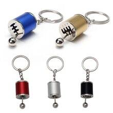 DWCX Car Tuning Parts Gear Shift Keychain Cylinder Key Ring for Ford Mercedes VW Kia Hyundai Honda BMW Audi Toyota Nissan