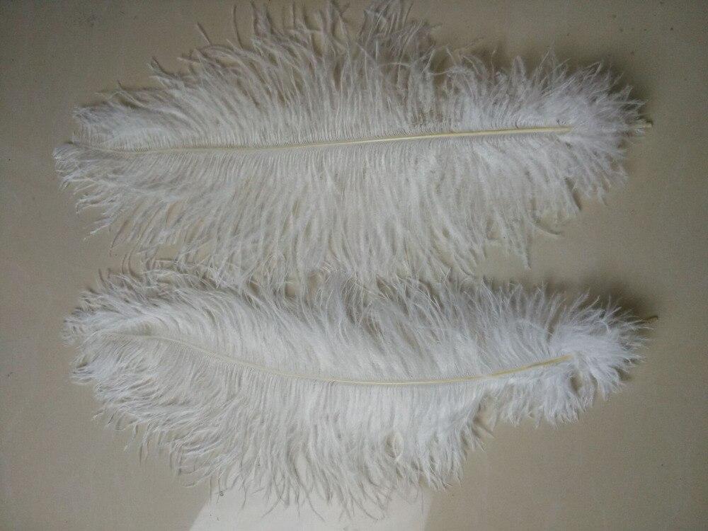 50 ชิ้นสีขาวขนนกกระจอกเทศ, 16 18 นิ้ว/40 45 เซนติเมตร, DIY ตกแต่งงานแต่งงาน-ใน ขนนก จาก บ้านและสวน บน   3