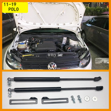For VW Polo 2011 MK5 Refit Bonnet Hood Gas Spring Shock Lift Strut Bars Support Hraulic Rod Car-styling