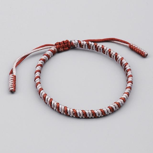 1d3dc8885e8c1 Mix Colors Lucky Rope Bracelet Women Tibetan Buddhist Handmade Knots  Bracelet Men Amulet Adjustable Size
