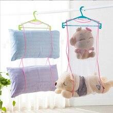 New Creative Pillow Cushion Storage Bag Shelf Drying Laundry Nets Rack With Multiple Racks