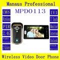 D113b Умный дом 1V1 Беспроводной домофон, один в один видео-телефон двери 2.4 г Цифровой ПИР обнаружения Видео дверной глазок Камера