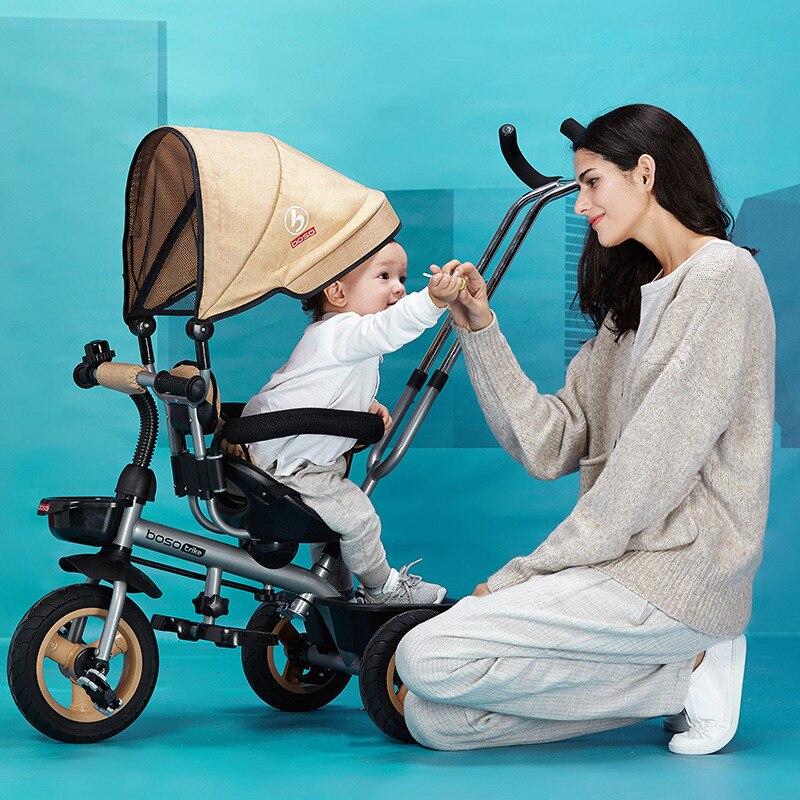 Лидер продаж сиденье поворачивается на 360 градусов ребенка толчок Детские коляски многоцветный ребенка велосипед commutatable ручка детский тре