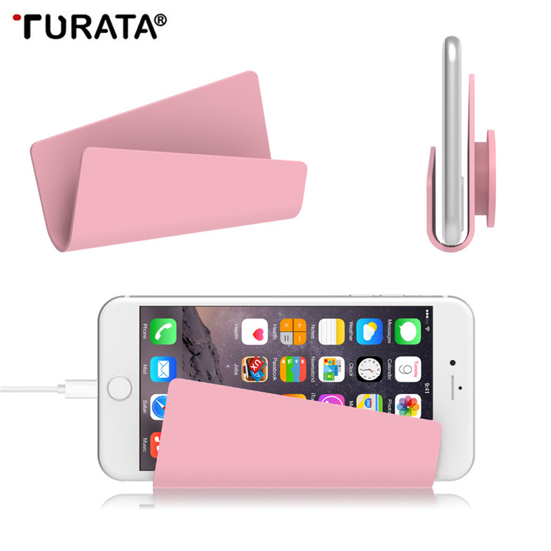 Turata Pop Phone Holder For iPhone SE Mobile Phone Wall Stand Holder for Airpods Samsung Xiaomi Huawei Tablet Stand Mount Holder