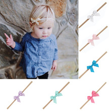20Pcs/ 2.5 Inch Small Cute Kids Ribbon Bow Tie With Nylon Headband Elastic Hair Bands Accessories 536