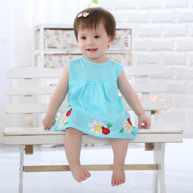 Детские комбинезоны для девочек; хлопковая одежда с короткими рукавами для малышей; Летний комбинезон для младенцев; юбка принцессы с рисунком для новорожденных; одежда для маленьких девочек