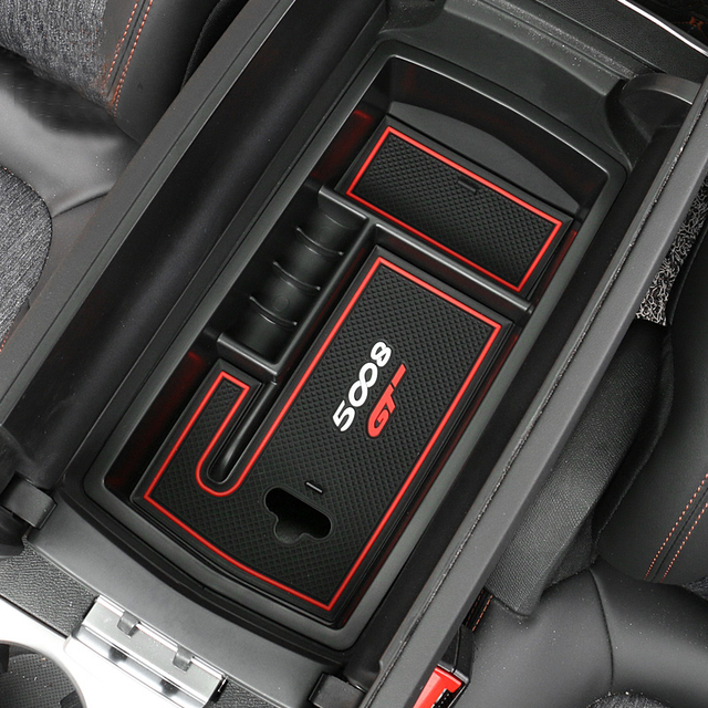mass abs car interior store content box car accessories for 2017 peugeot 5008 gt car styling in. Black Bedroom Furniture Sets. Home Design Ideas