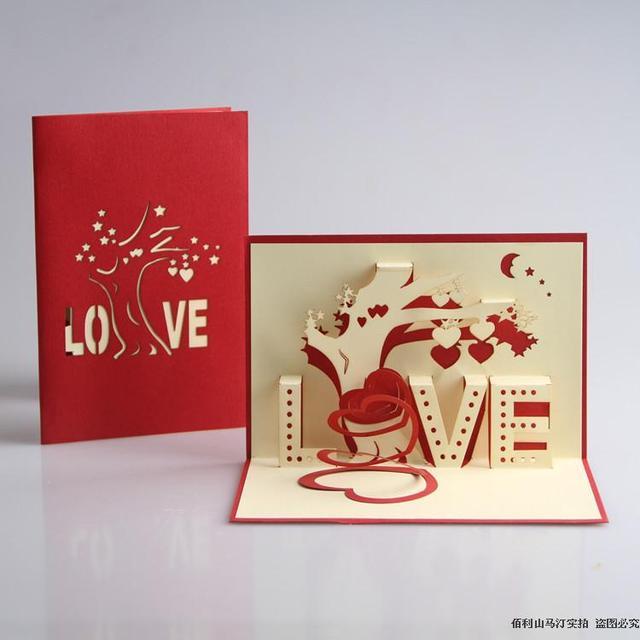 Love tree handmade 3d custom birthday greeting cards party wedding love tree handmade 3d custom birthday greeting cards party wedding decoration wedding invitations postcards free shopping m4hsunfo