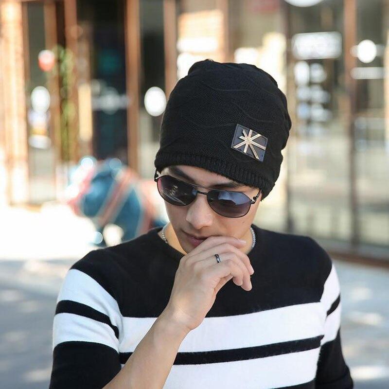 2016 Flag Casual Fashion Beanies Knitted Hat Men's Winter Hats For Men Caps Warm Moto Fur Winter Beanie Fleece Knit Bonnet Hat aetrue winter knitted hat beanie men scarf skullies beanies winter hats for women men caps gorras bonnet mask brand hats 2018