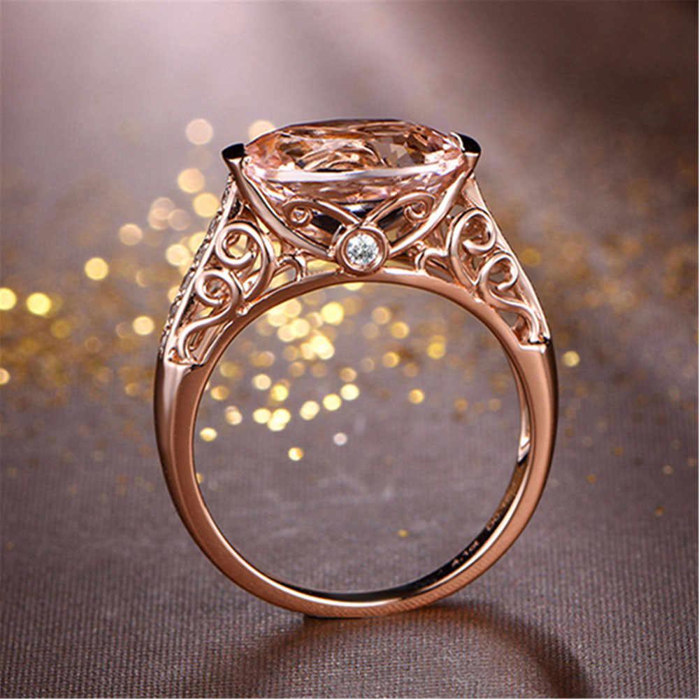 Schöne Ring Aneis Schmuck Zubehör Rose Gold Ringe Charmant Anillos valentinstag Geschenk Ring Ornamente Superb Schmuck Anel