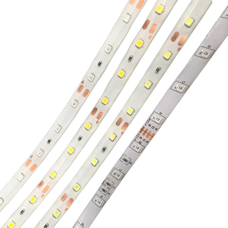 LED RGB taśmy LED 2835 3528 SMD 5 M 60 diod LED/m LED elastyczny pasek wstążka pilot zdalnego sterowania na podczerwień 12 V 2A zasilacz taśma LED