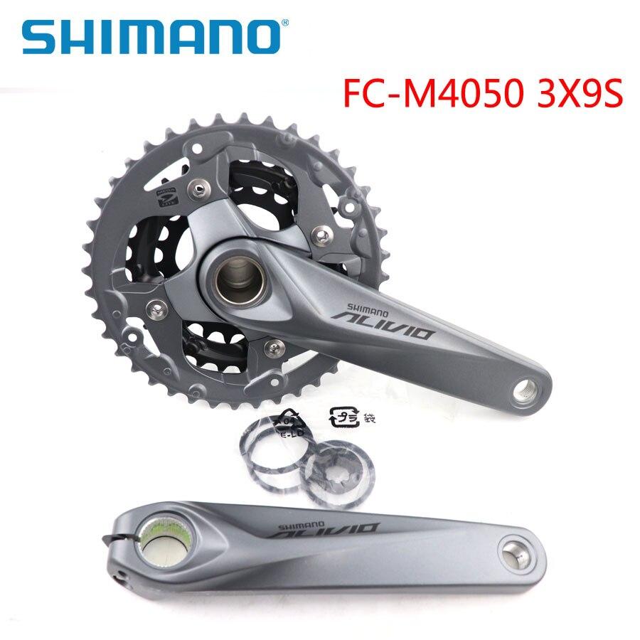 SHIMANO ALIVIO FC M4050 Pédalier 3X9 S D'origine Boîte VTT chaîne de vélo Whee 170 MM Manivelle Vélo Pièces Choisir collocation BB52