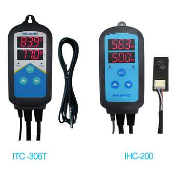 Inkbird Combo Set Pre-wired Digital Dural Stage Humidity Controller IHC200 and Heating Timer Temperature Controller ITC-306T - DISCOUNT ITEM  11% OFF Tools