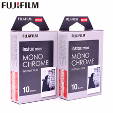 10 sheets Original Fujifilm Instax Mini MONO CHROME Instant Film photo paper for Instax Mini 8 7s 25 50s 90 9 SP-1 SP-2 Camera original fujifilm 10 sheets instax mini candy pop instant film photo paper for instax mini 8 7s 25 50s 90 9 sp 1 sp 2 camera
