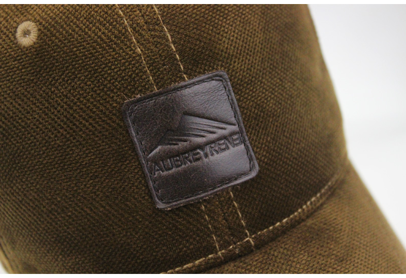 Brushed Cotton Baseball Cap - Brim Logo Detail View
