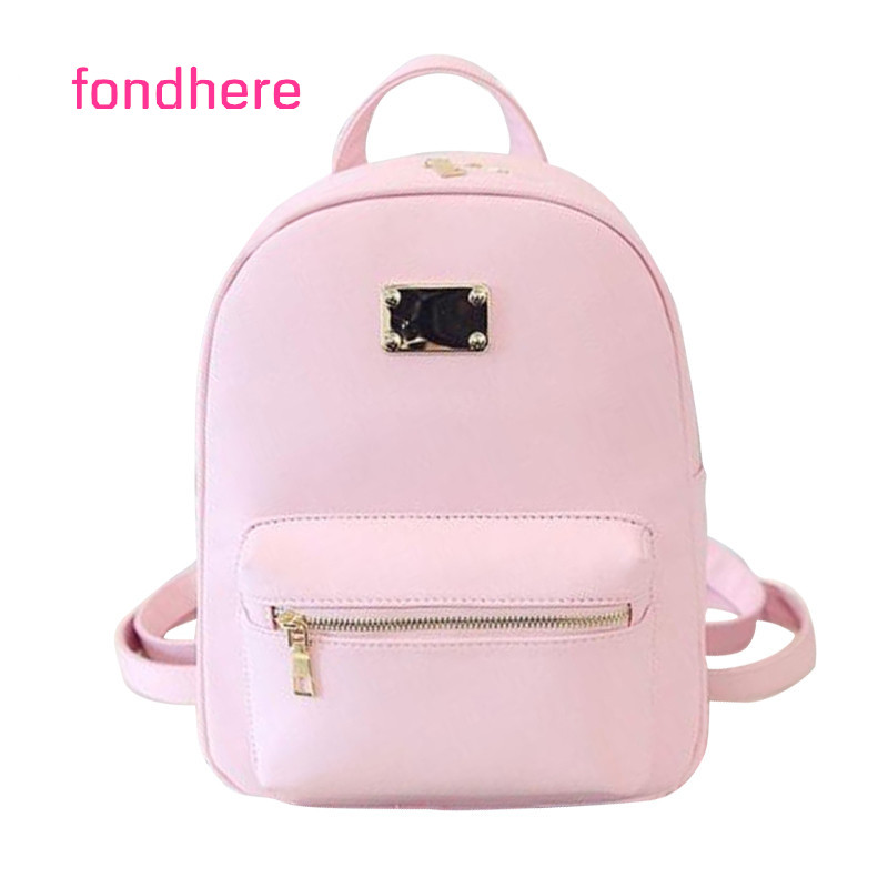 fondhere Women Backpack Famous Brand Small PU Leather Backpacks Fashion Girls School Shoulder Bags Female Back Pack mochilas