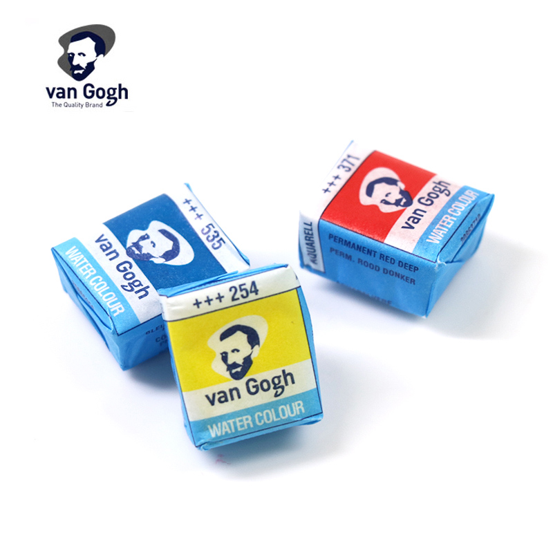 Sakura Van Gogh Solid Watercolor Paint Cold Color Tones Single Packing Professional Gouache Pigment For Student Artist