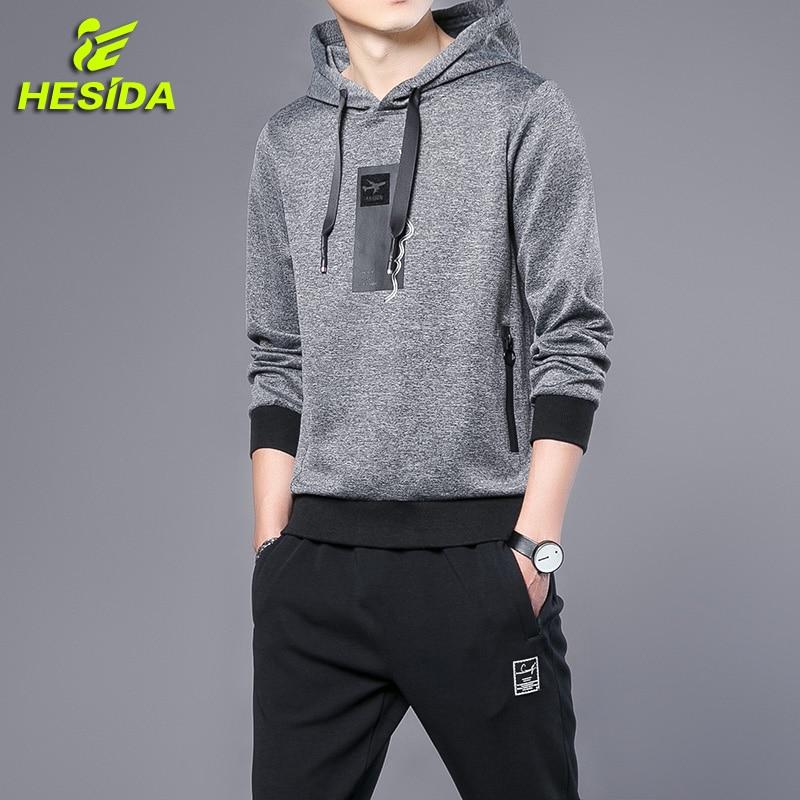 Mens Sports Suits Set Hoodie Hooded Sweatshirt Tracksuit Spring Pullover Sportswear Track Pants Sweatpants Sport Wear Men
