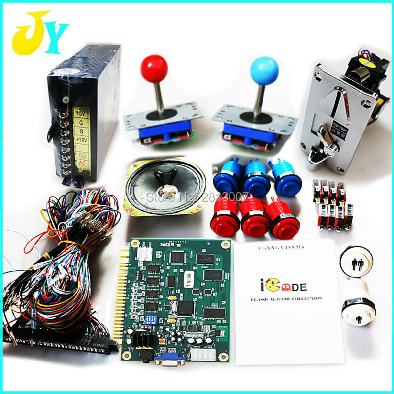 Jamma Arcade Bundles kit 60 in 1 Game DIY Arcade cabinet parts 60 in 1 PCB
