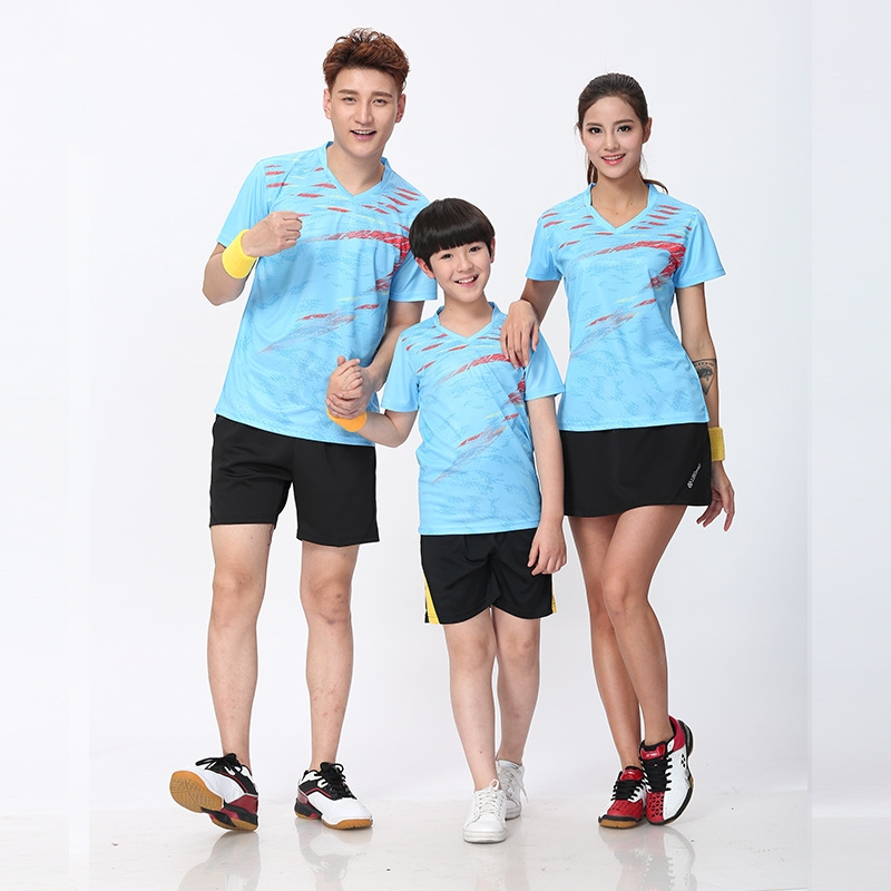 Polyester Quick Dry breathable badminton shirt tennis Jerseys,Women Men table tennis clothes training running T Shirts LY86