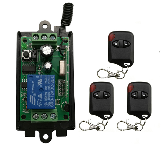 Home Electronic Accessories Consumer Electronics 315/433.92 Mhz Garage Door/lamp Dc 9v 12v 24v 1 Ch 1ch Rf Wireless Remote Control Switch System Receiver+cat Eye Transmitters