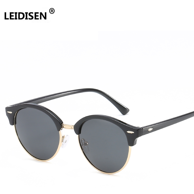 9e3c3fe39bd2 2018 Womens Mens Fashion Vintage Brand Designer Mirrored Sun Glasses  Classic Half Frame Club Round Sunglasses Polarized